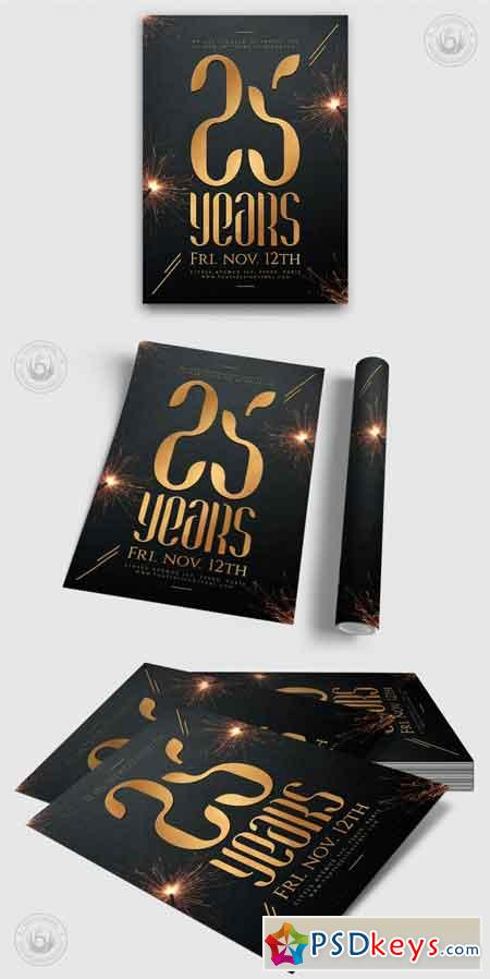 Birthday Anniversary Flyer Template 3514838