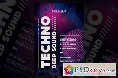 Techno Music Flyer 3514731