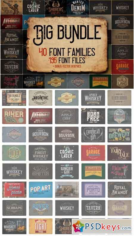 Vintage Fonts Bundle 3513889