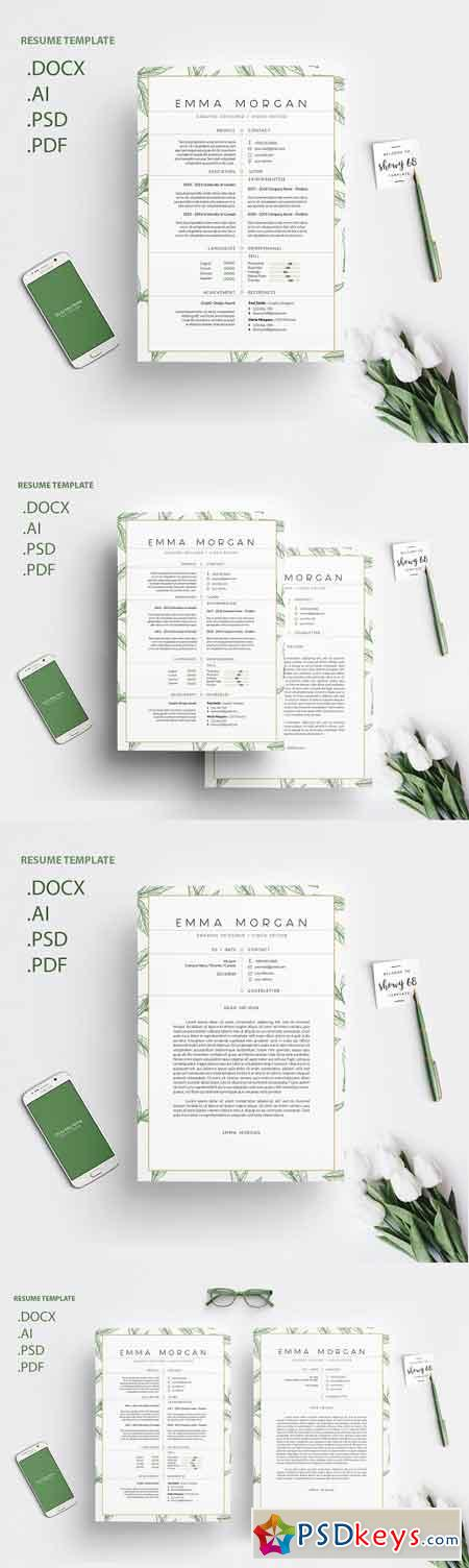 Leafs Resume CV Template M 3272613