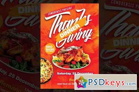 Thanks Giving Dinner Flyer 3256981