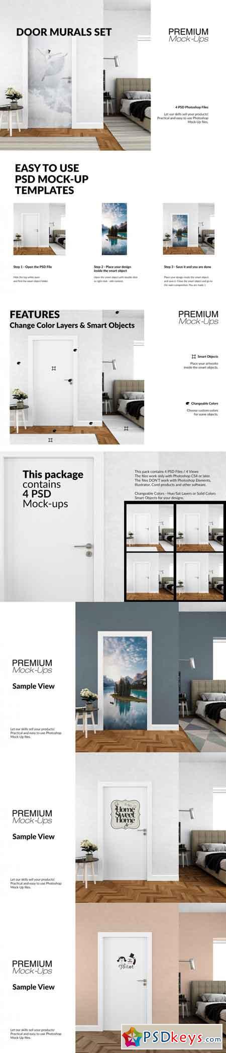 Door Murals Set 3513034