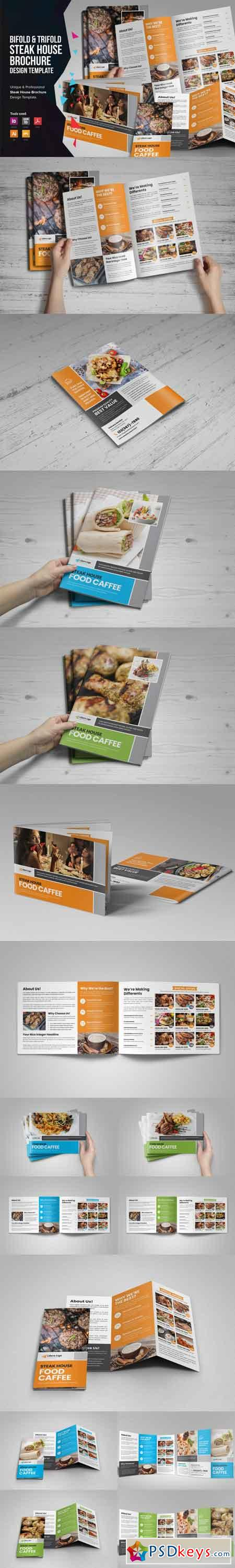 Food Menu Bifold-Trifold Brochure v3 3513917