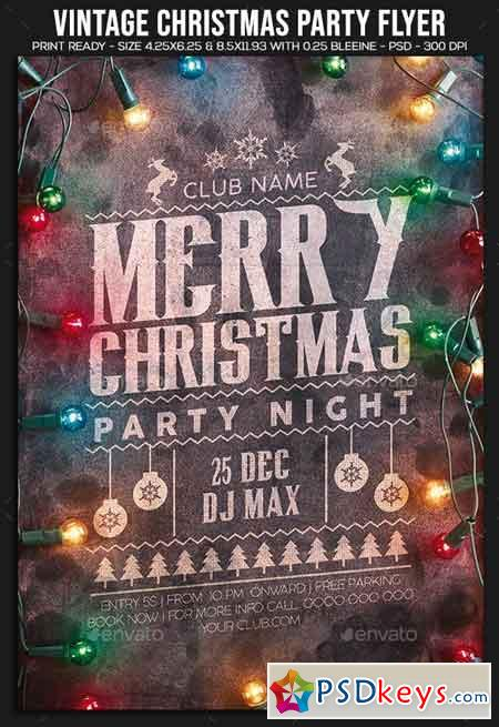 Vintage Christmas Party Flyer 22896868
