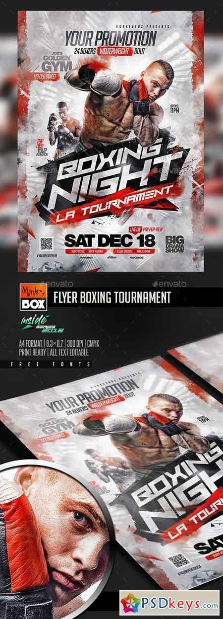 Flyer Boxing Tournament 22932463