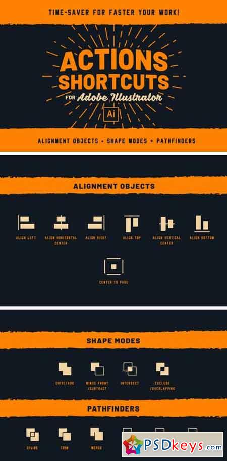 Actions Shortcuts for Adobe Illustrator 2409861