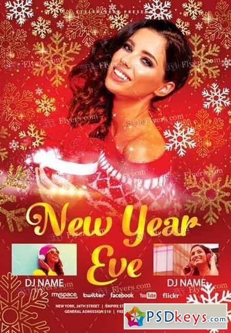 New Year Eve PSD Flyer Template 3