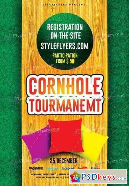 Cornhole Tourmanemt PSD Flyer Template