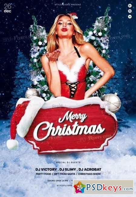 Christmas PSD Flyer Template 5