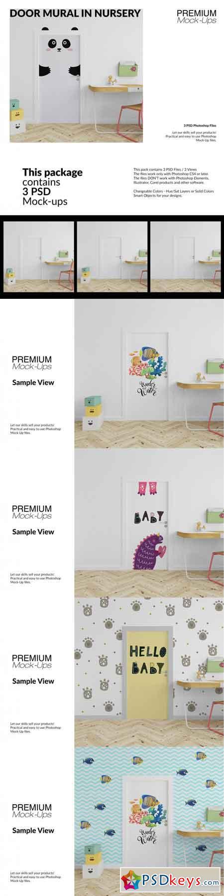 Door Murals in Nursery Set 3513261