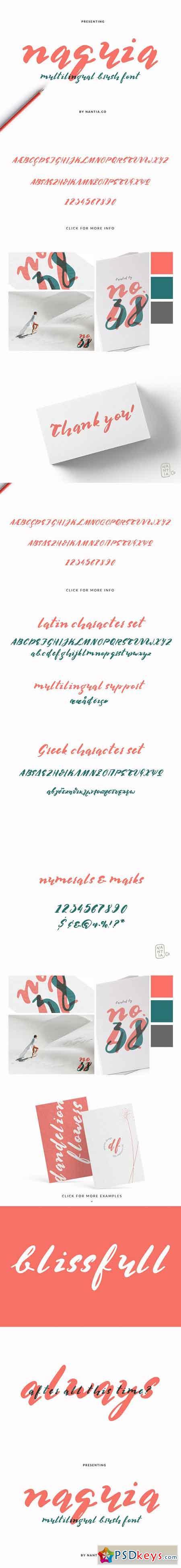 Multilingual Brush Font- Naquia Font 3252935