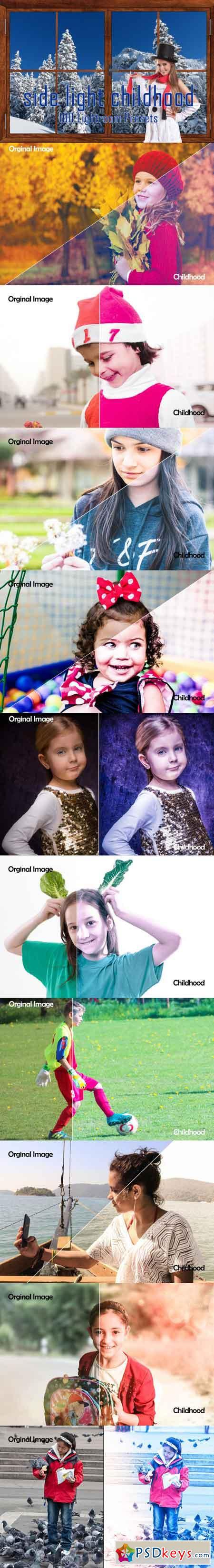 100 Side Light Childhood Lightroom Presets 3513210