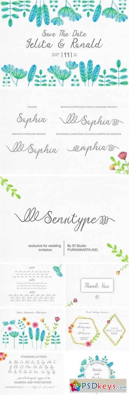 Sensitype - Wedding Font 3169936