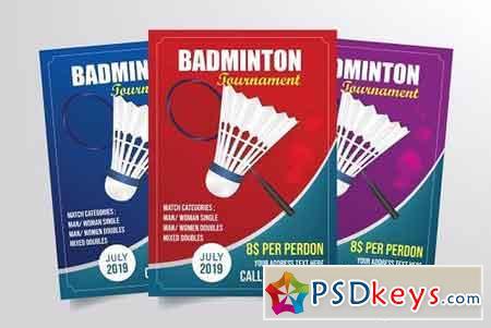 Badminton Tournament Flyer Template 3285326