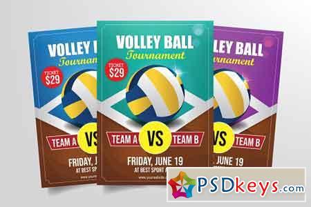 Volleyball Tournament Flyer Template 3285430