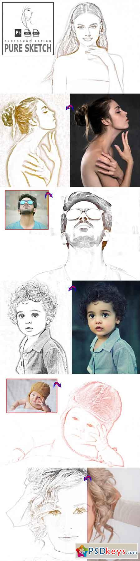 Pure Sketch Photoshop Action 3513122