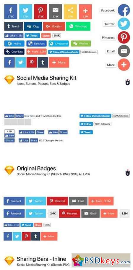 Social Media Sharing Kit - Sketch