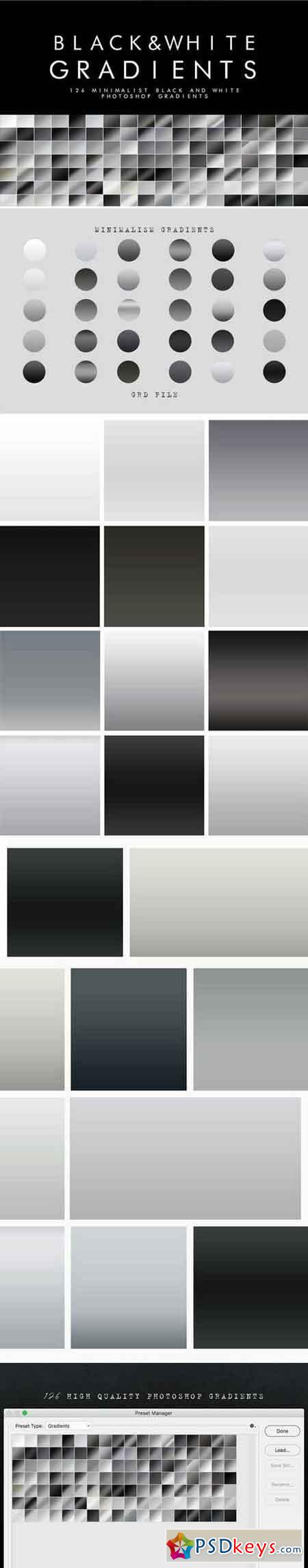 126 Black and White Gradients 21925521