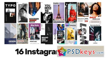 MotionArray - 16 Instagram Stories V.2 After Effects Templates 151829