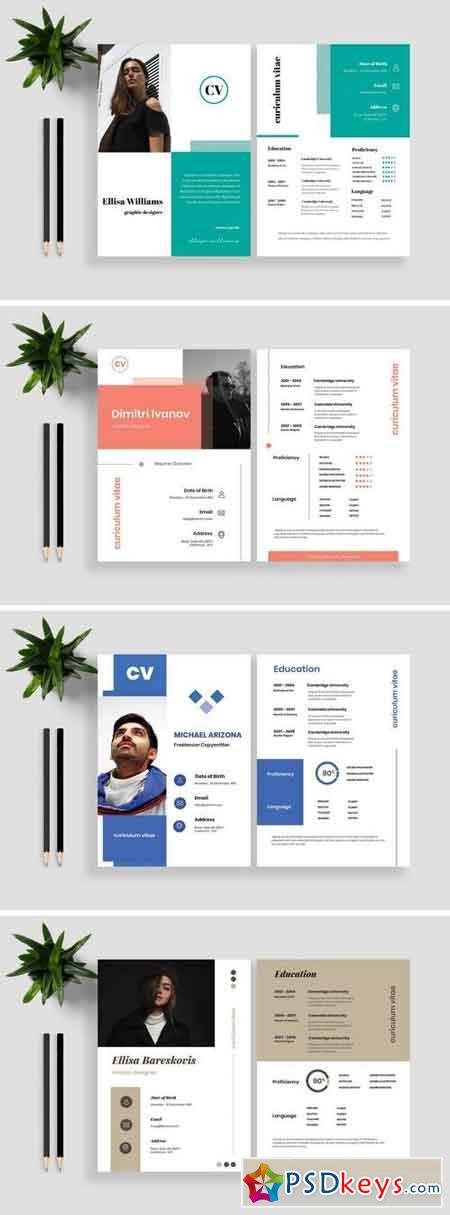 Clean Resume CV Template Bundle 2