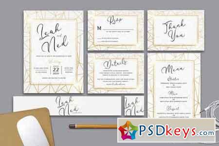 Geometric Wedding Invitation 2