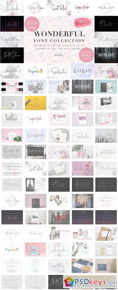 Wonderful Font Collection Bundles 3516251