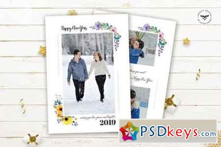 New Year Greeting Card Pack