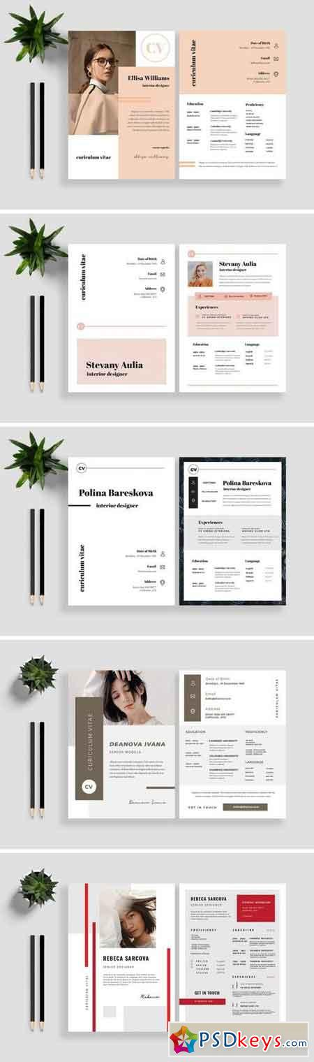 Clean Resume CV Template Bundle