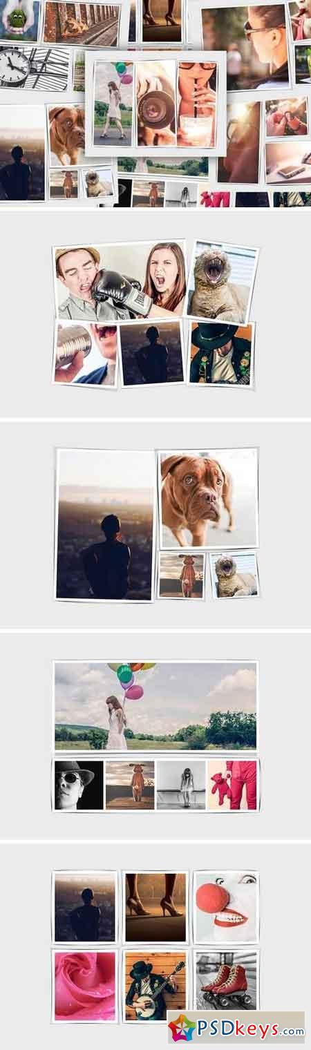 Realistic Shadow Photo Frame Templates