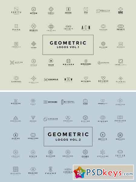 50 Geometric Logos Vol.1-2