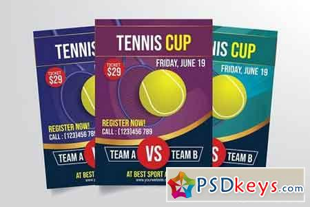 Tennis Cup Flyer Template 3297268