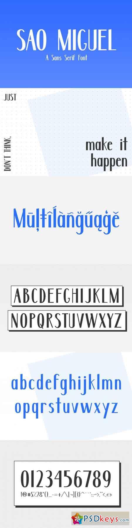 Sao Miguel - A Sans Serif Font 3516751