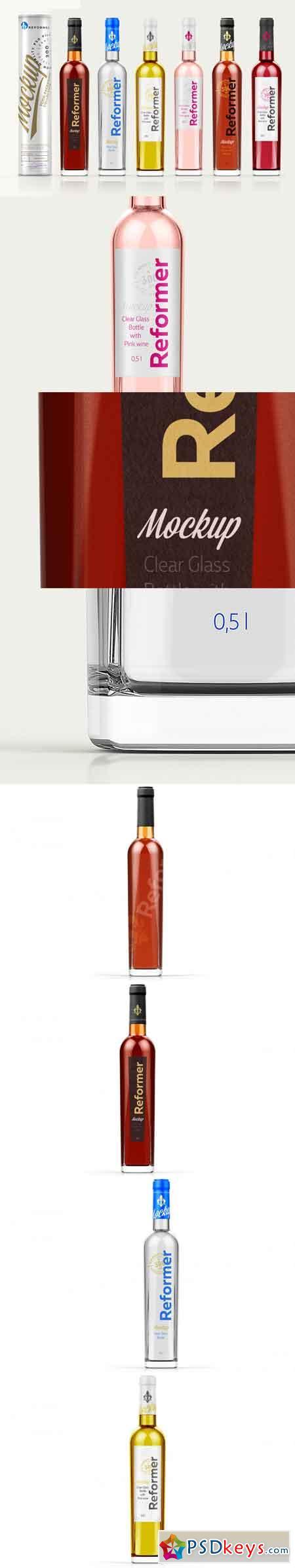 Mockup Cardboard Tube & 6 Bottles 0,5l 3515616
