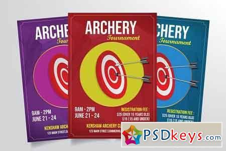 Archery Tournament Flyer Template 3301893