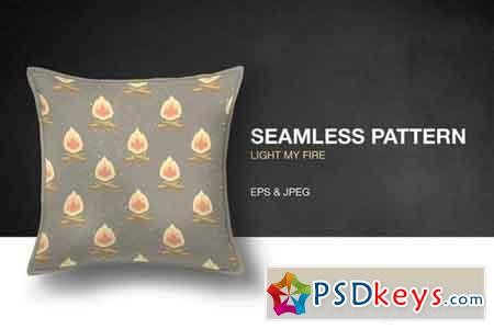 Light My Fire Seamless Pattern