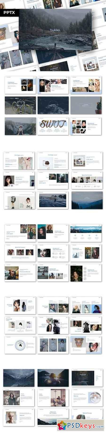 Tsukiko - Powerpoint, Keynote, Google Sliders Templates
