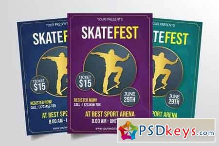 Skateboard Festival Flyer Template 3301895