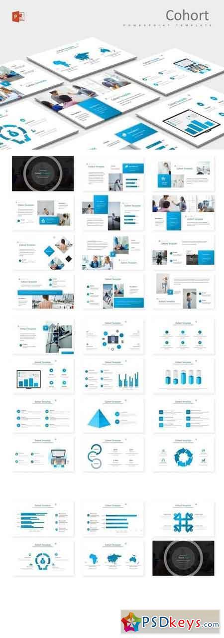 Cohort - Powerpoint, Keynote, Google Sliders Templates