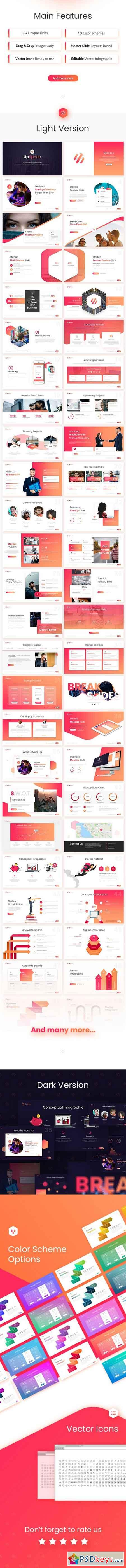 UpSpace Business Startup PowerPoint Presentation Template 22136825