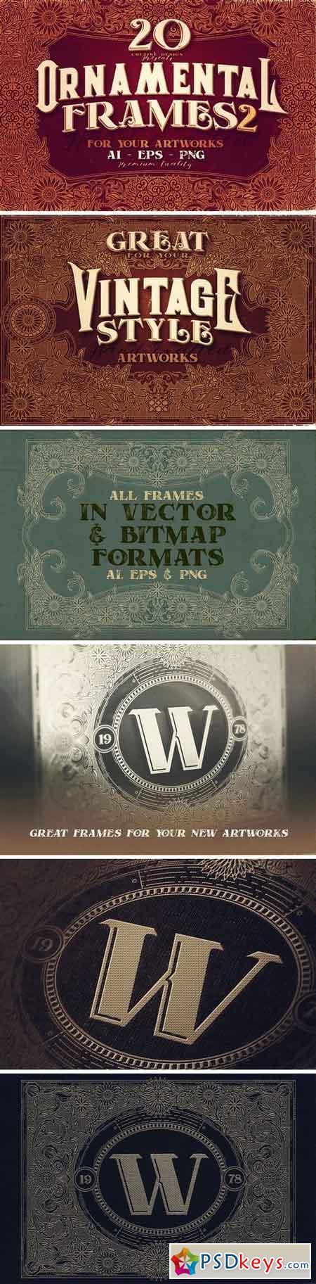 20 Ornamental Vintage Frames 2 3212825