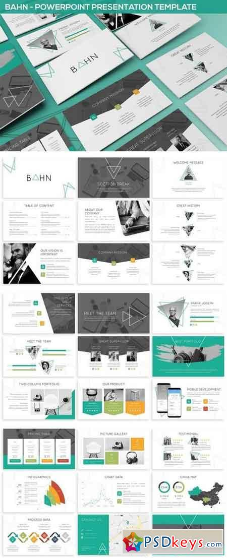 Bahn - Triangle Powerpoint Template