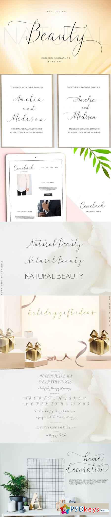 Natural Beauty Font Trio 3517133