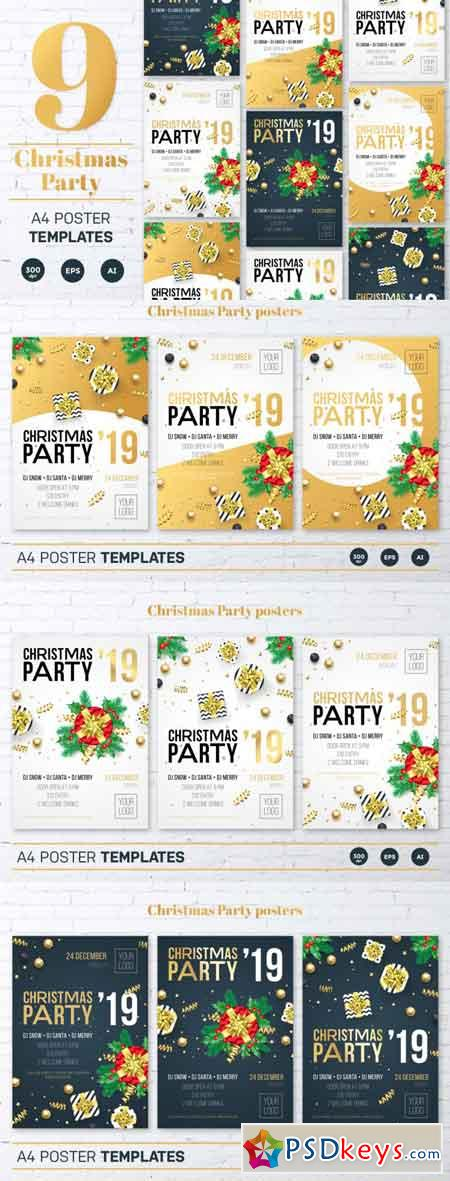Christmas Party Invitation tempates 3512400
