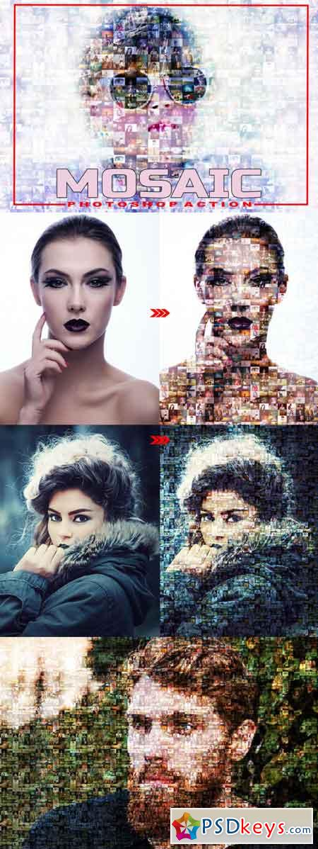 Mosaic Photoshop Action 3512234