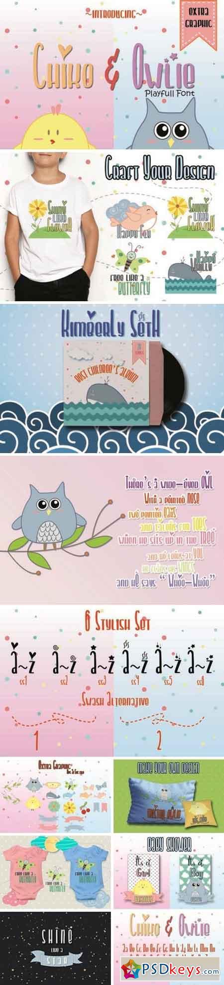 Chiko & Owlie - Extra Cute Graphic 132973
