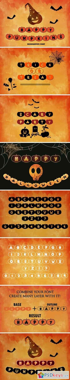 Happy Pumpkins Font