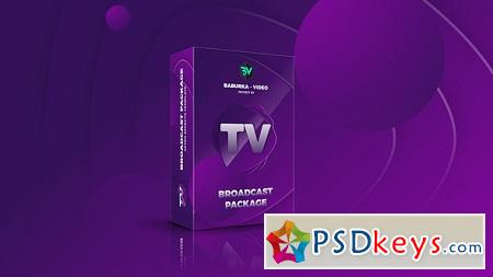 Broadcast Package Colored TV 22499025 After Effects Template