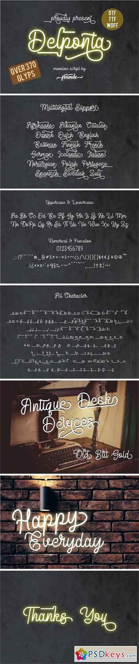 Delponta Monoline Script 3298795