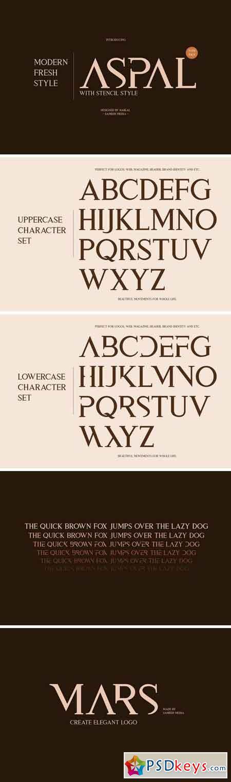 Aspal Typeface Font 988614