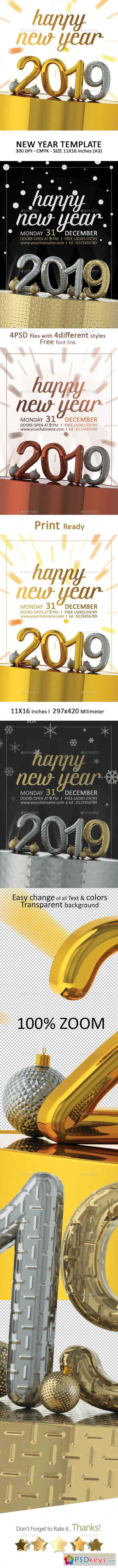 2019 Happy New Year 23057568